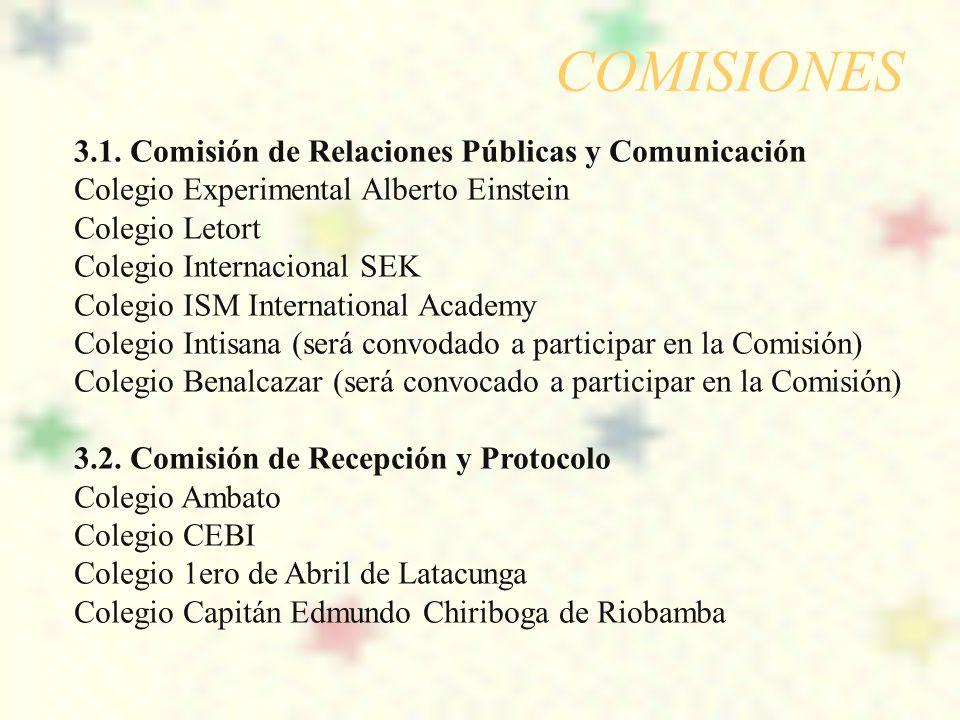 COMISIONES 3.1. Comisión de Relaciones Públicas y Comunicación