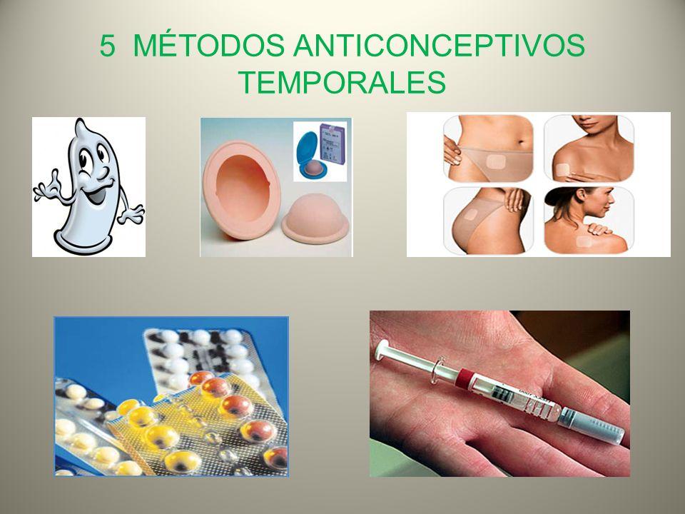 5 MÉTODOS ANTICONCEPTIVOS TEMPORALES