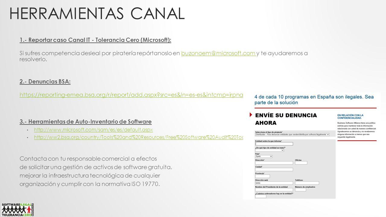 Herramientas CANAL 1.- Reportar caso Canal IT - Tolerancia Cero (Microsoft):