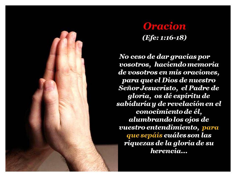 Oracion (Efe: 1:16-18)
