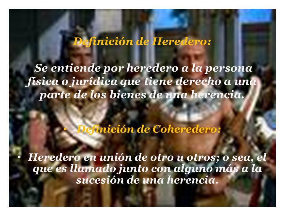 Definición de Coheredero: