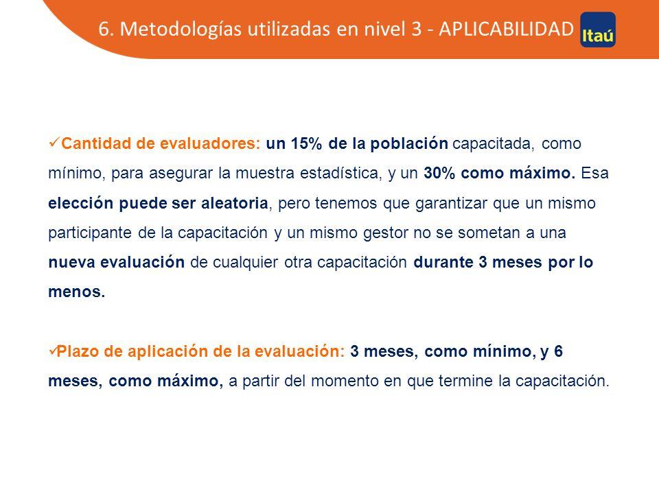 6. Modelo de estudio en nivel 3 - APLICABILIDAD