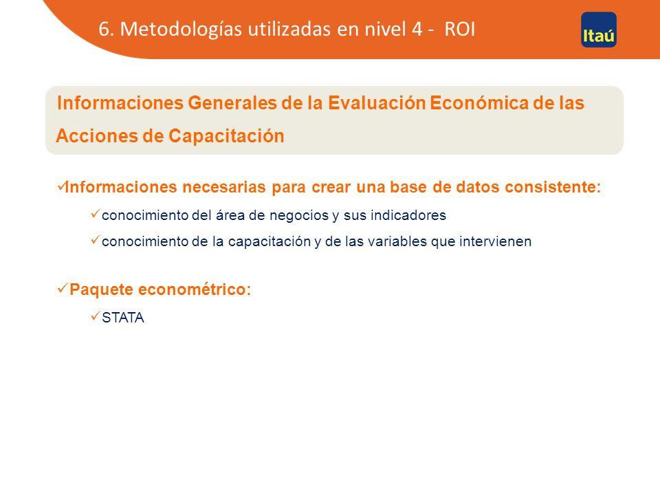 7. Estudio de caso - ROI ROI – Retorno Monetario de la Acción de Desarrollo.
