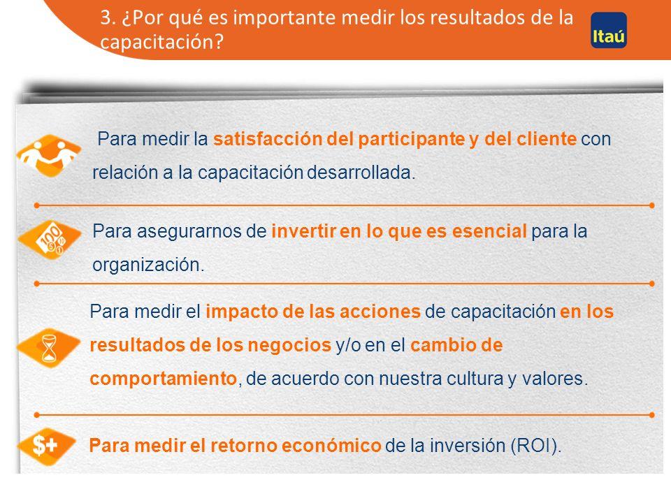 4. Cuáles son los beneficios del uso de la medición de los resultados de la formación para las organizaciones y los RRHH