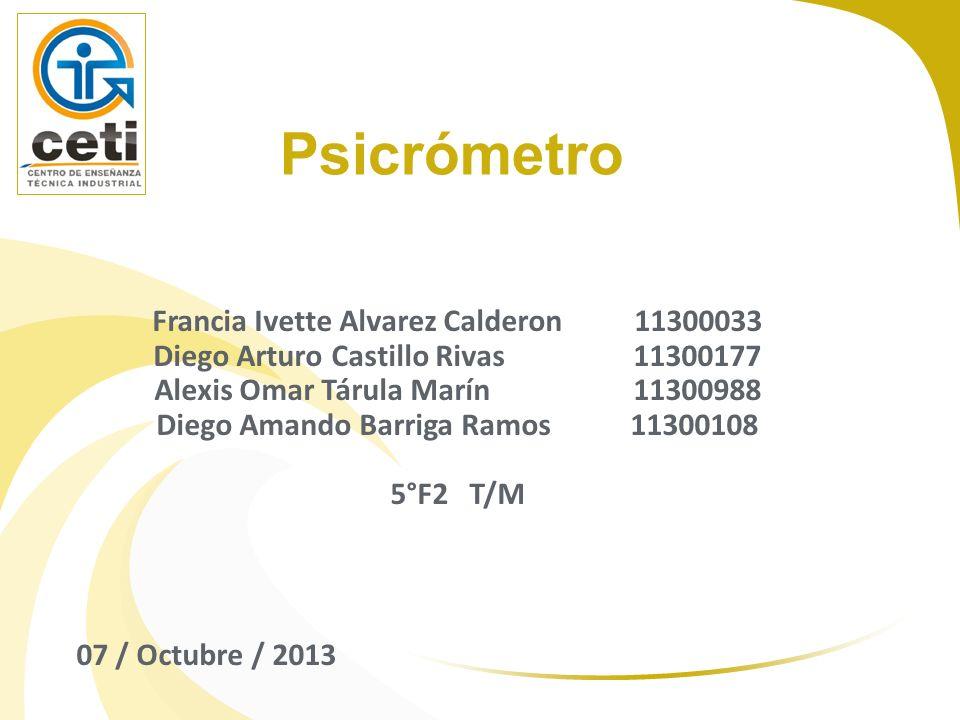 Psicrómetro Francia Ivette Alvarez Calderon 11300033