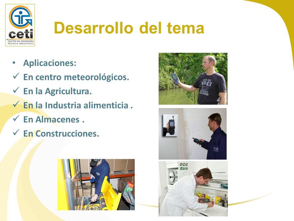 Desarrollo del tema Aplicaciones: En centro meteorológicos.