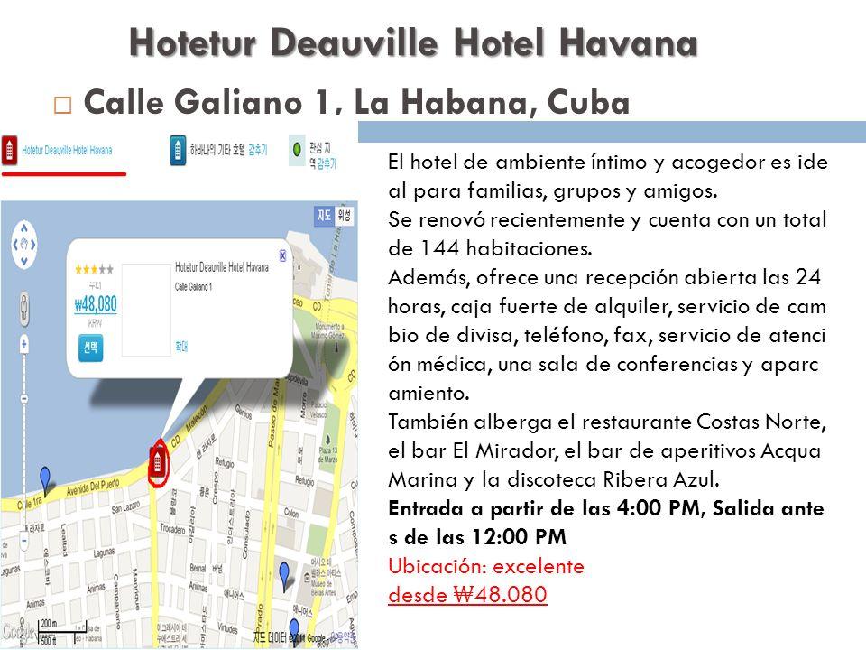 Hotetur Deauville Hotel Havana