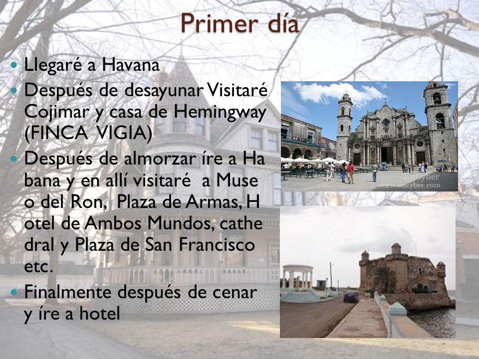 Primer día Llegaré a Havana