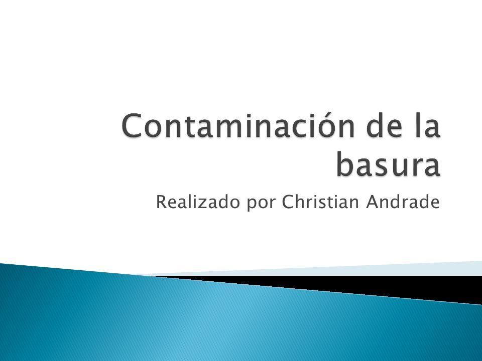 Contaminación de la basura