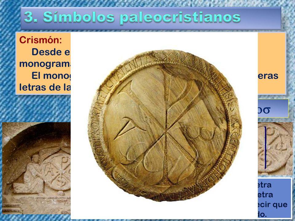 3. Símbolos paleocristianos