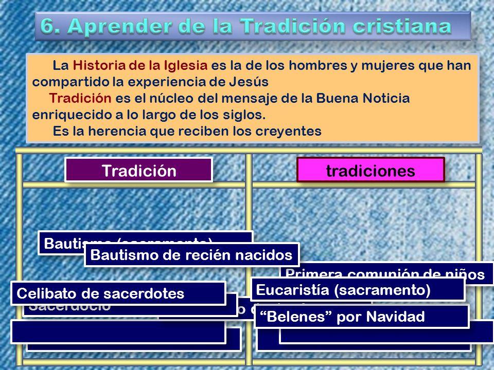 6. Aprender de la Tradición cristiana
