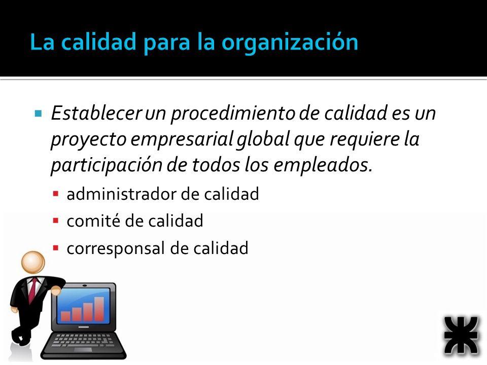 La calidad para la organización