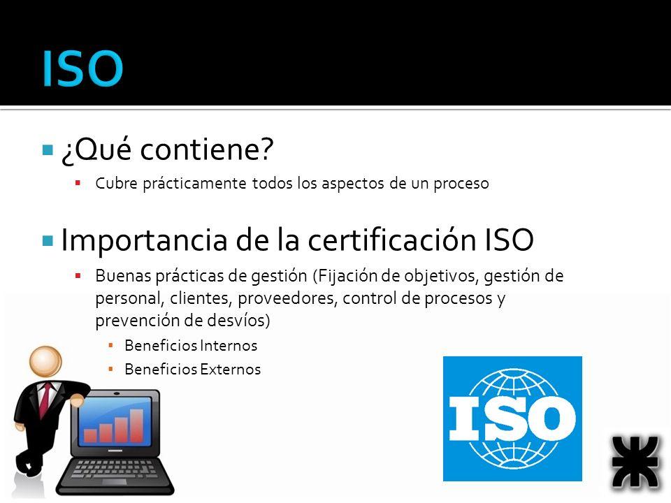 ISO ¿Qué contiene Importancia de la certificación ISO