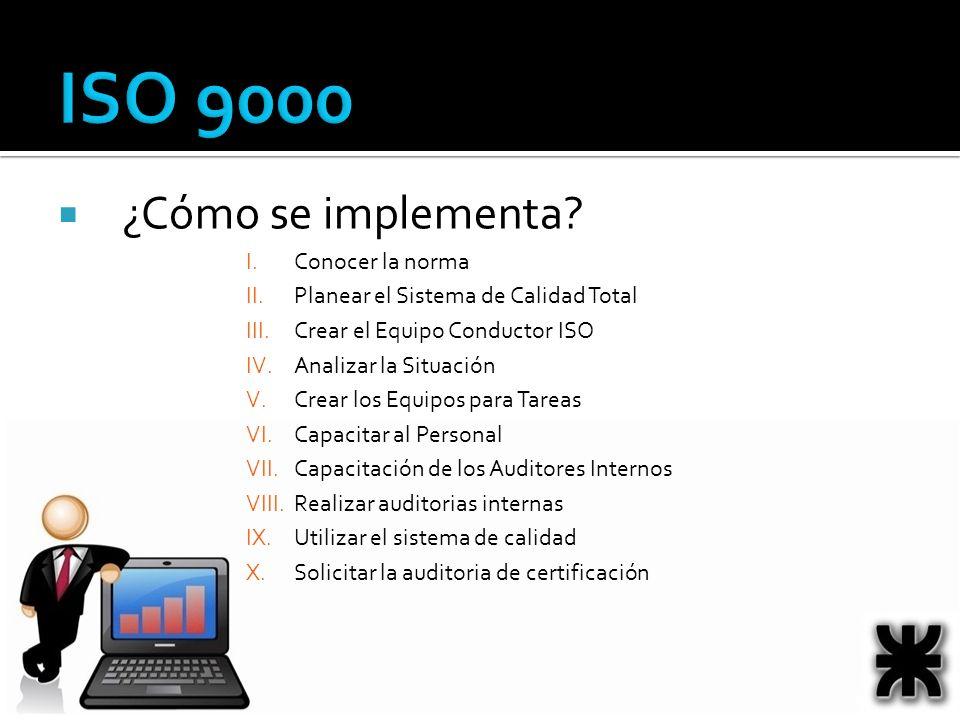 ISO 9000 ¿Cómo se implementa Conocer la norma