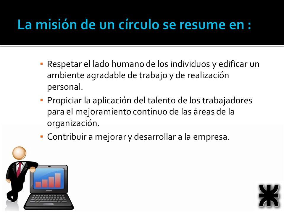 La misión de un círculo se resume en :