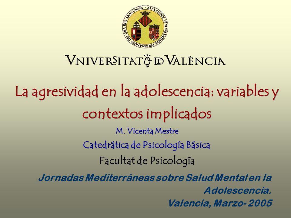 La agresividad en la adolescencia: variables y contextos implicados M