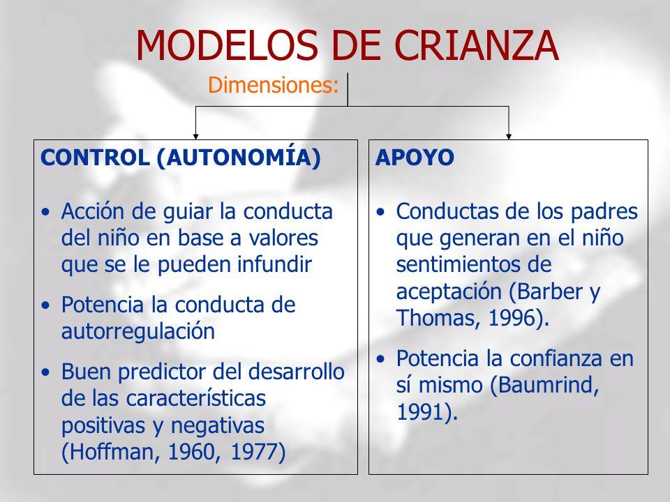 MODELOS DE CRIANZA CONTROL (AUTONOMÍA)