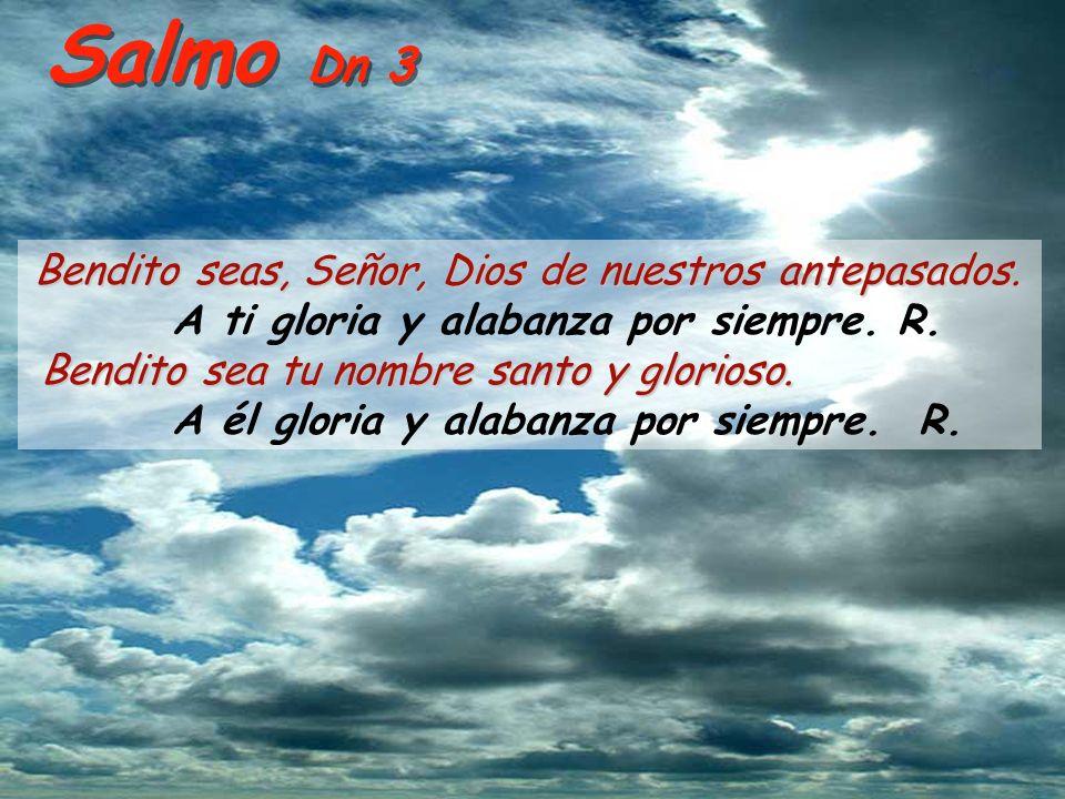 Salmo Dn 3 A ti gloria y alabanza por siempre. R.