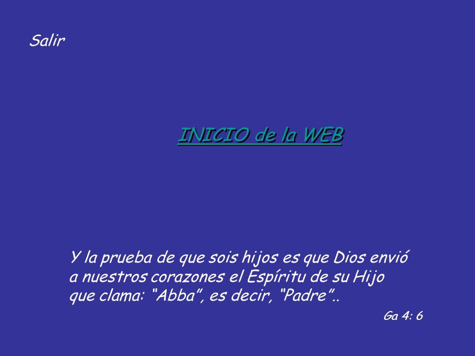 Salir INICIO de la WEB.