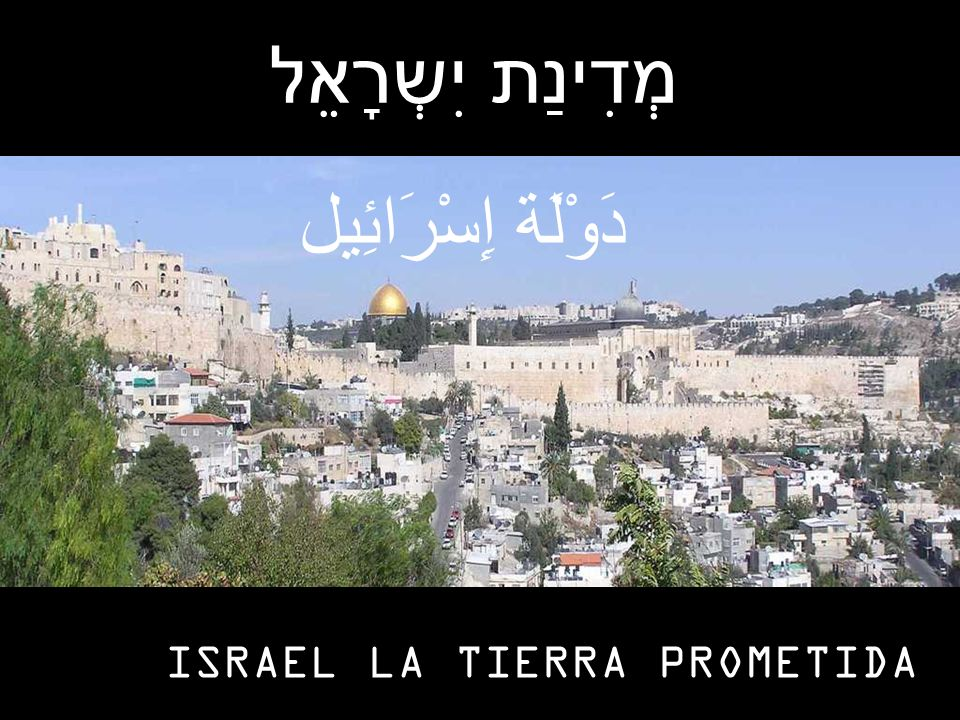 מְדִינַת יִשְרָאֵל دَوْلَة إِسْرَائِيل ISRAEL LA TIERRA PROMETIDA
