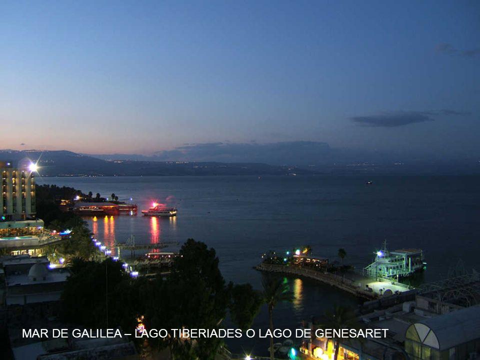 MAR DE GALILEA – LAGO TIBERIADES O LAGO DE GENESARET