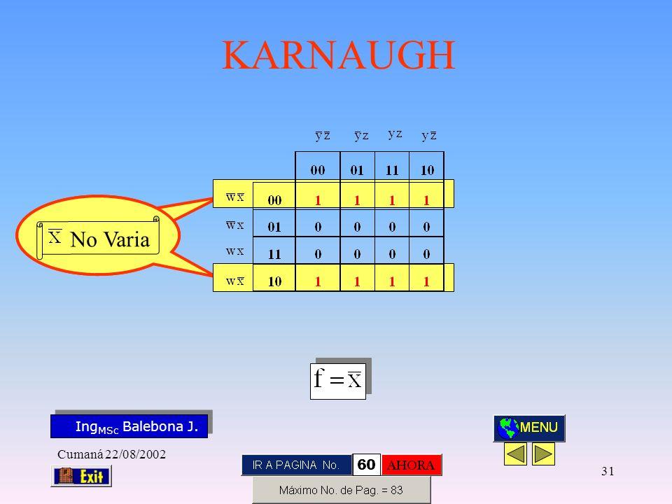 No Varia Cumaná 22/08/2002