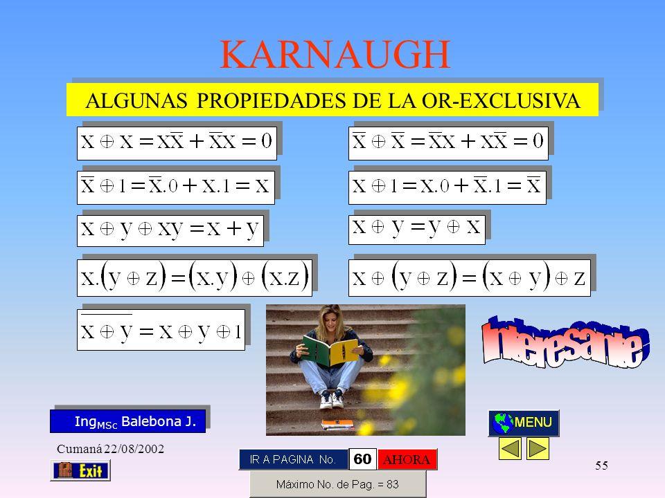 ALGUNAS PROPIEDADES DE LA OR-EXCLUSIVA