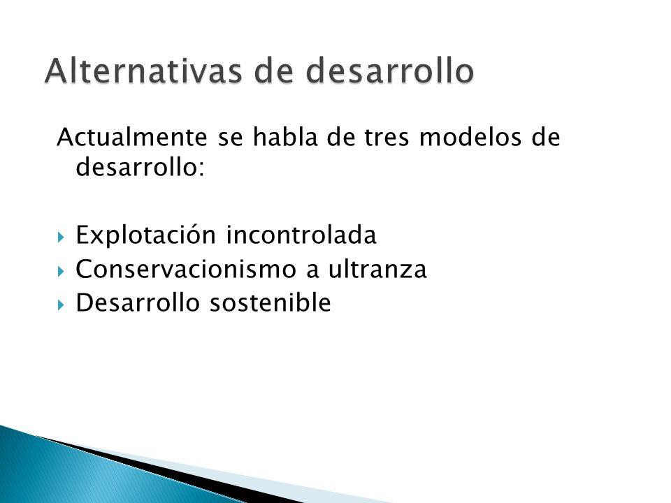 Alternativas de desarrollo