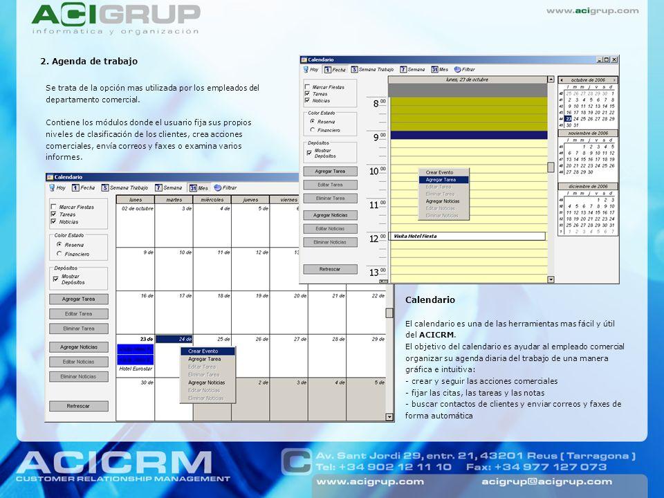 2. Agenda de trabajo Calendario