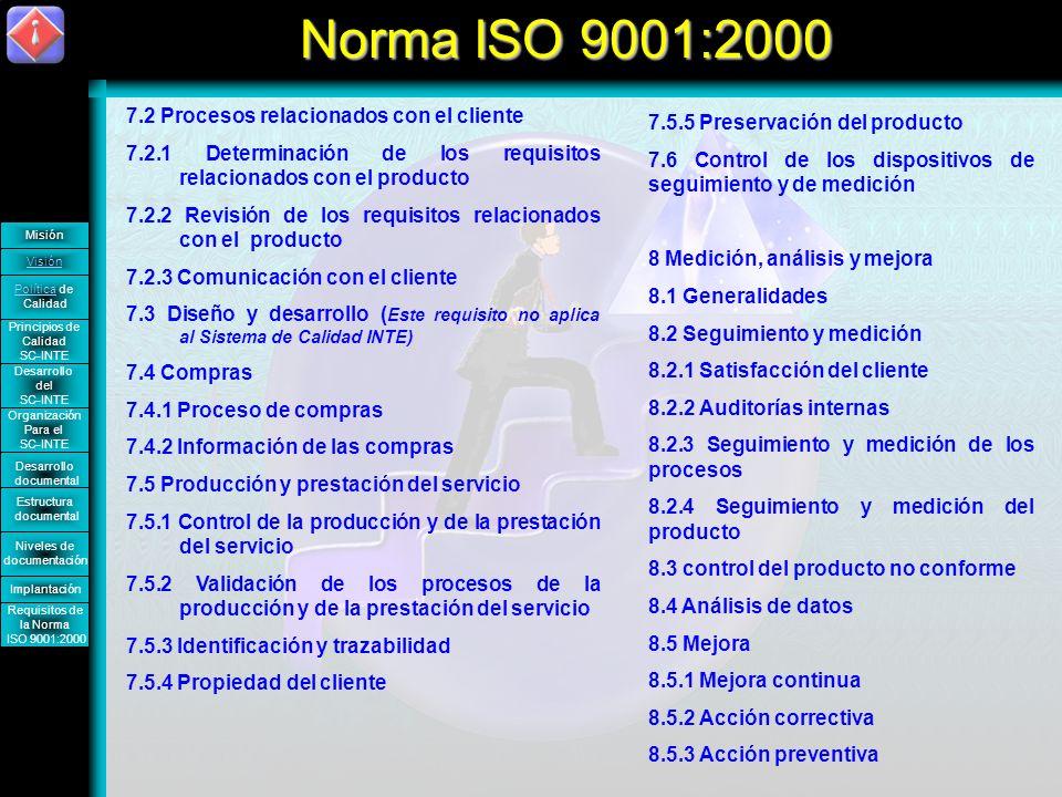 Norma ISO 9001:2000 7.2 Procesos relacionados con el cliente