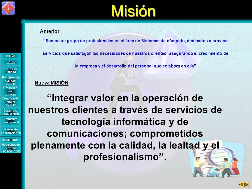 Misión Anterior.