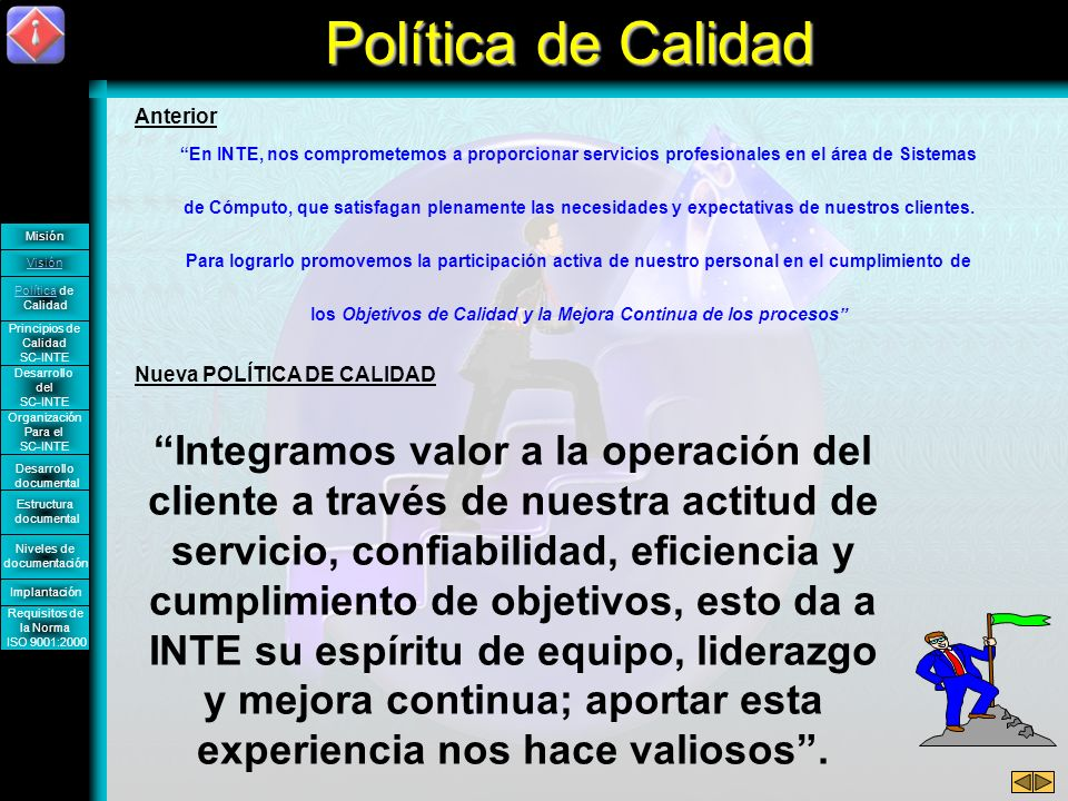 Nueva POLÍTICA DE CALIDAD