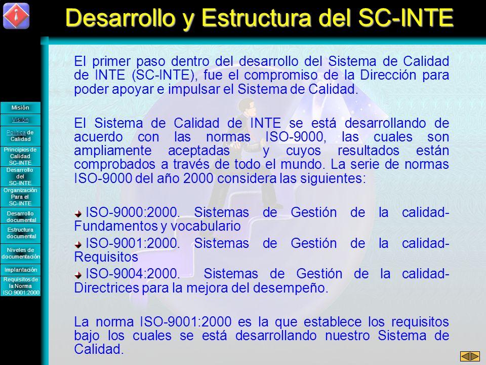Desarrollo y Estructura del SC-INTE