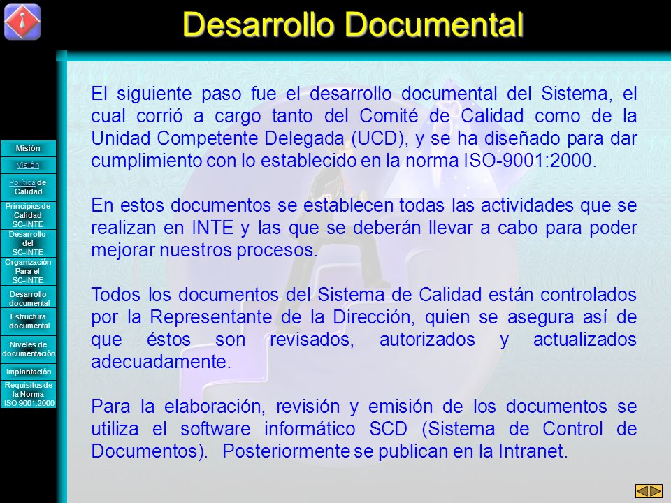 Desarrollo Documental
