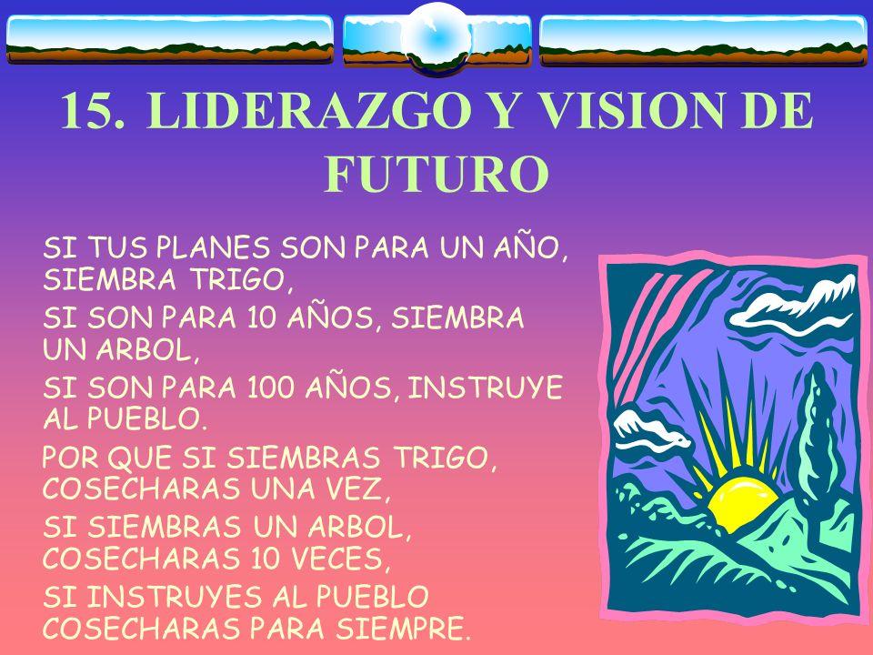 15. LIDERAZGO Y VISION DE FUTURO
