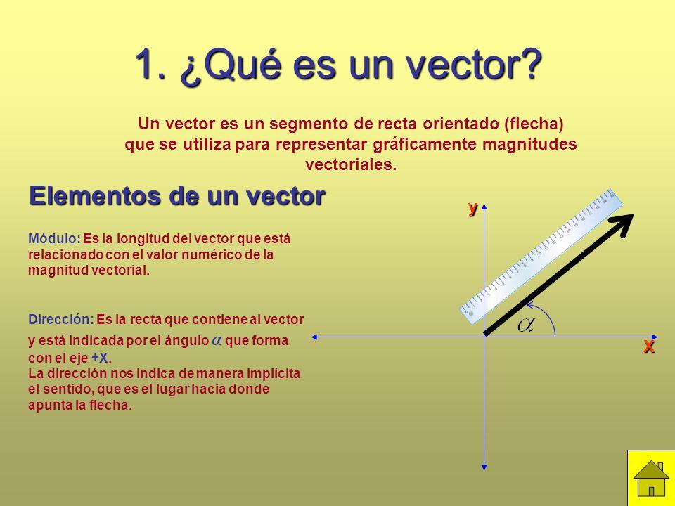 1. ¿Qué es un vector Elementos de un vector