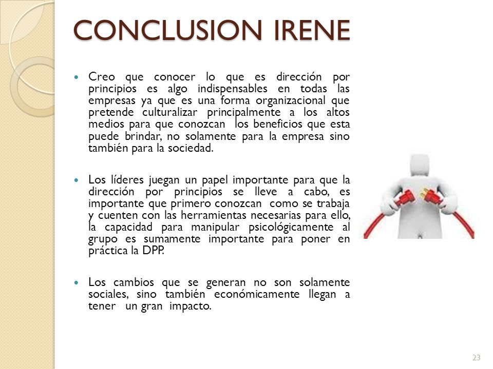 CONCLUSION IRENE