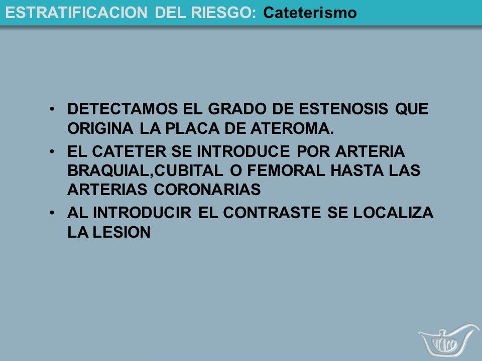 ESTRATIFICACION DEL RIESGO: Cateterismo