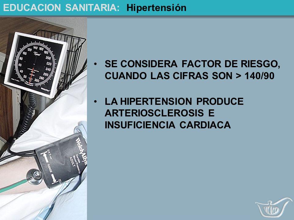 EDUCACION SANITARIA: Hipertensión