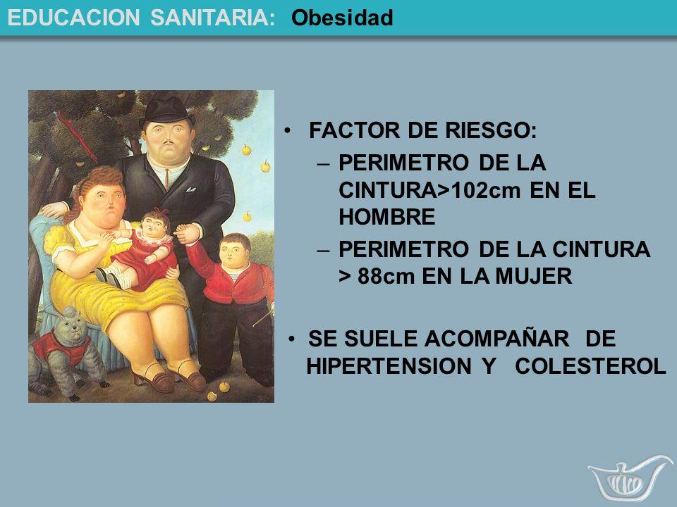 EDUCACION SANITARIA: Obesidad
