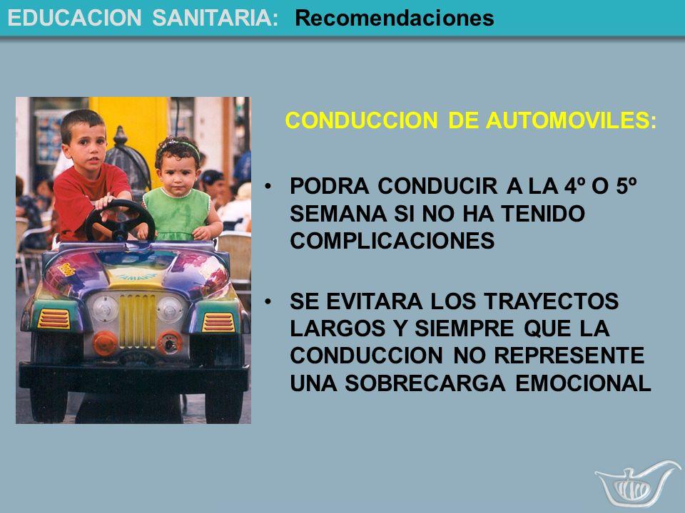 CONDUCCION DE AUTOMOVILES: