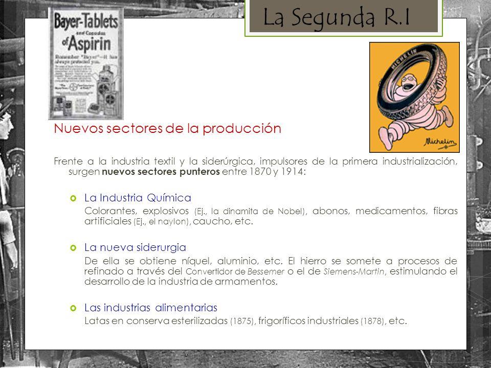 La Segunda R.I Nuevos sectores de la producción La Industria Química