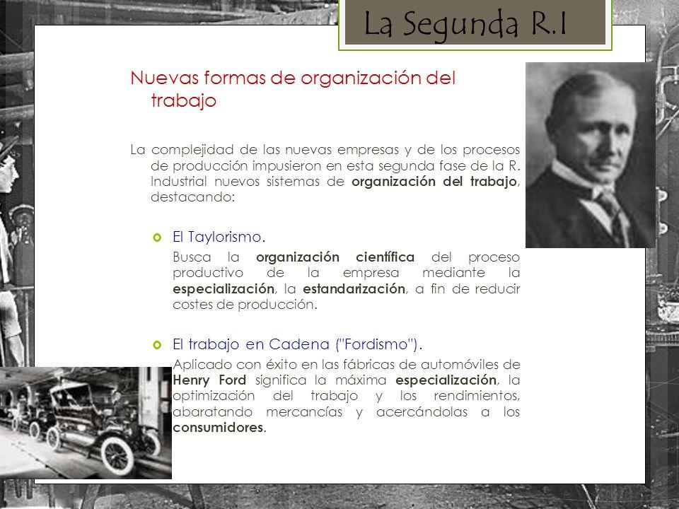 La Segunda R.I Nuevas formas de organización del trabajo
