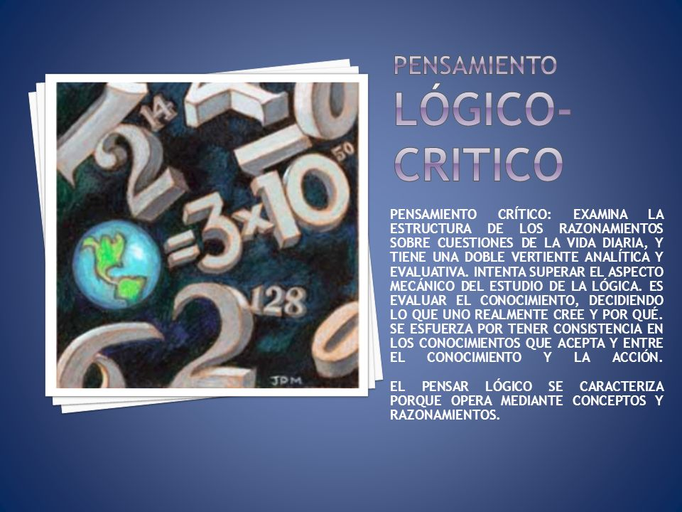 Pensamiento lógico-critico