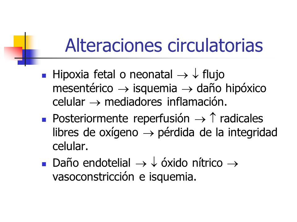 Alteraciones circulatorias