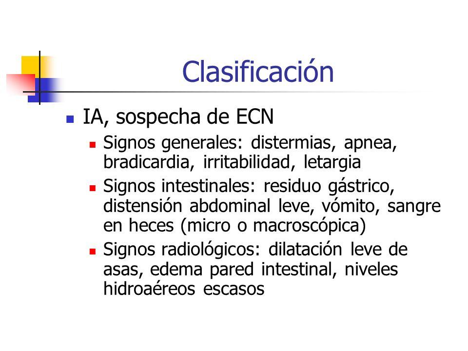 Clasificación IA, sospecha de ECN