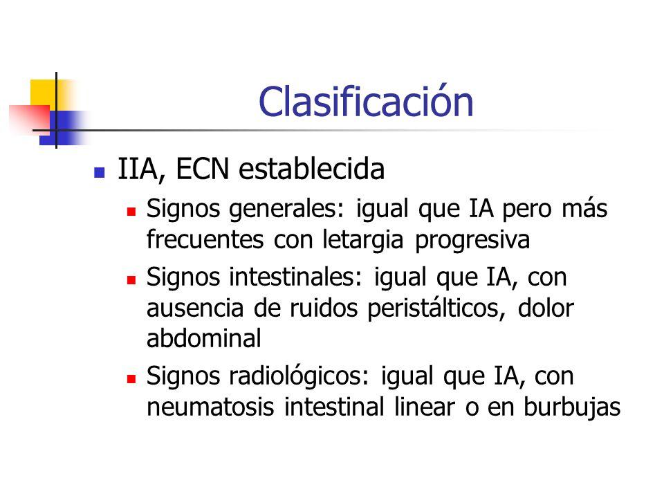 Clasificación IIA, ECN establecida