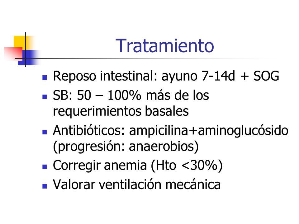 Tratamiento Reposo intestinal: ayuno 7-14d + SOG