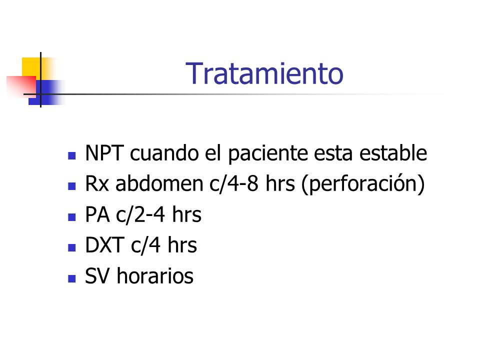 Tratamiento NPT cuando el paciente esta estable