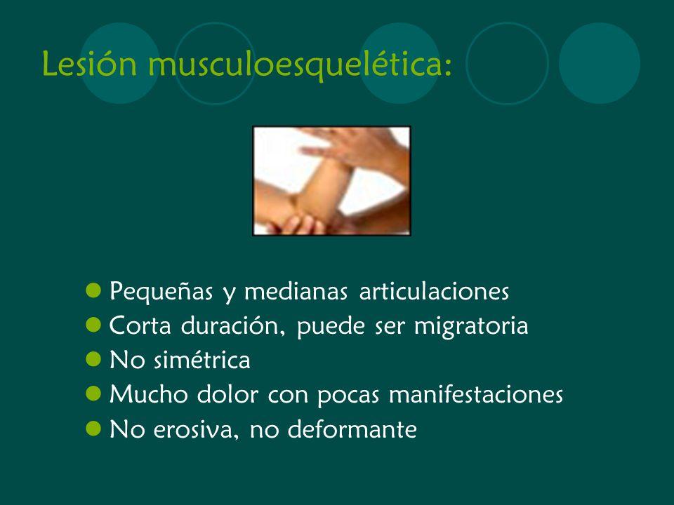 Lesión musculoesquelética: